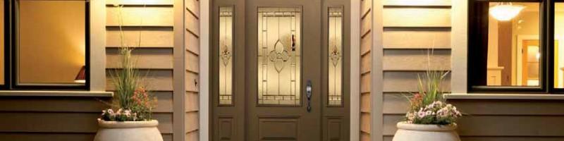 Porte d'entrée avec verre mystique
