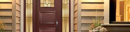 Porte d'entrée avec impost et latéraux